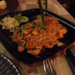 Chicken phad thai, not spicy at all but still tasty