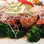 Grilled Shrimp w Three Flavors Chili Sauce