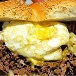 Shaved Sirloin with Farm Egg & Cheese