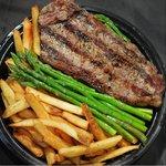 Angus Sirloin NY Strip Steak Entree