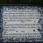 inscripción referente al origen del Carmen de la Victoria