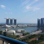 Day view of Marina Bay area from room balcony