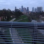 Downtown Houston skyline...you can run from downtown to the most popular park Memorial Park ...1