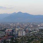 Aussicht über Shkodra von der Burg