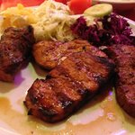Mixed Grill with Red & White Cabbage