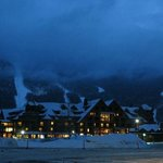Stowe Mt Lodge- Vermont- Blue Hour Lighting