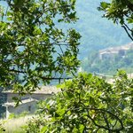 Veduta di Nottiano e San GIovanni di Spello