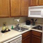 The little kitchenette area.