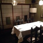 one of the private dining tables