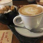食後のカフェラテ