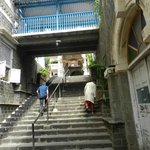 The stairs leading to the temple
