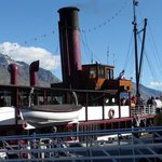 the TSS Earnslaw at port