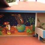 Beautiful mural on the roof terrace