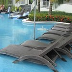 lounge chairs -- lots of them everywhere in water