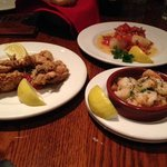 fried oysters, shrimp & scallops