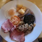 Lovely Welsh breakfast served with a smile