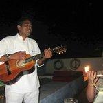 Jose serenading us during birthday dinner!