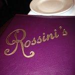 Rossini's menu