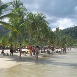 Tourist from all over the world in Maracas Beach