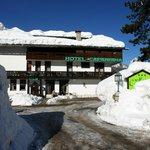 Hotel Capannina dopo la nevicata di febbraio 2014