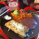 Chimichanga meal, amazing food!