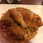 Chicken and waffles! Great!