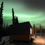 Active aurora forecast over Grizzly Cabin where I stayed.