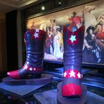 Boots installed over the koi pod in the lobby. just in time for rodeo