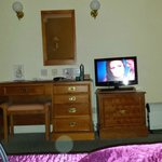 view from the bed, tv dresser