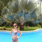 The blue palm poolside