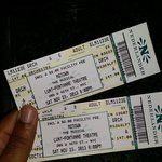 My tickets... I sat on the front row!