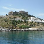 Lindos Village from the sea