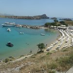 Lindos Bay from the Acropolis