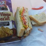 "Tastiest chips I've ever had with a perfect ""Crosswalk"" sandwich!"