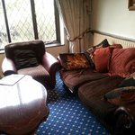 comfy settees in the lounge area