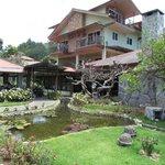 Garden side of hotel