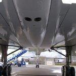 Underneath Brooklands Concorde