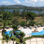 view of pool and chagres river from Monkey bar