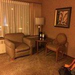 Sitting area inside room