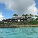 The resort from the water.