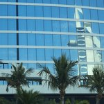 Reflection of the Burj on the hotel