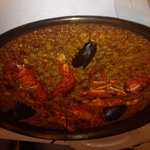 Very nice lobster paella