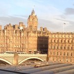 the balmoral hotel from my room on the 6thfloor
