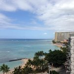 View of Waikiki Beach from my room