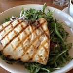 Arugula/Black Quinoa Salad with Grilled Swordfish
