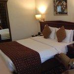 deluxe room with Queen bed.