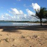 Their Beach extends forever....