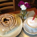 Cinnamon Bun & Cappuccino
