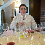 Sampling wines at Tenuta Torciano Winery in San Gimignano