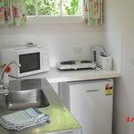 Kitchenette in Poppy Cottage
